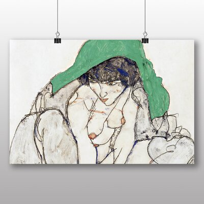 Big Box Art 'Woman in Green' by Egon Schiele Art Print