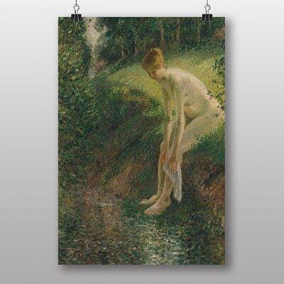 "Big Box Art ""Lady Cleaning Her Leg"" by Camille Pissarro Art Print"