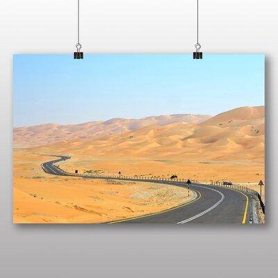 Big Box Art Desert Road Photographic Print on Canvas