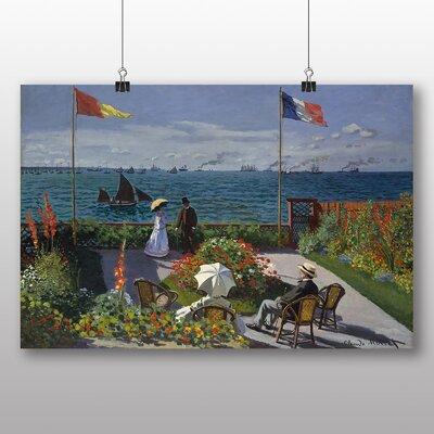 Big Box Art 'Jardin Sainte Adresse' by Claude Monet Art Print