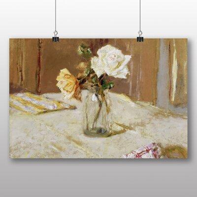Big Box Art 'Rose in a Glass Vase' by Edouard Vuillard Art Print