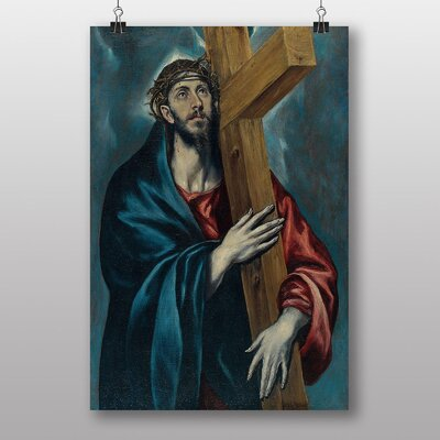 "Big Box Art ""Christ Carrying the Cross"" by El Greco Art Print"