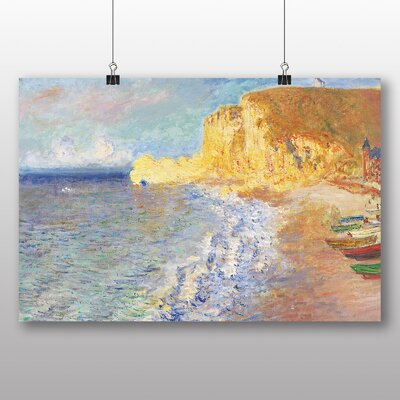Big Box Art 'Morning in Etretat' by Claude Monet Art Print