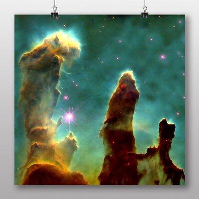 Big Box Art Eagle Nebula Cluster of Stars Space No.1 Graphic Art on Canvas