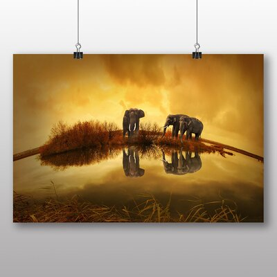 Big Box Art Elephants Photographic Print