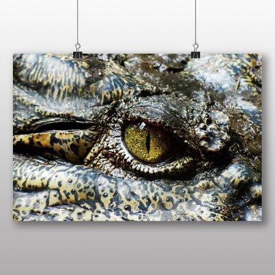 Big Box Art Crocodile No.2 Photographic Print Wrapped on Canvas