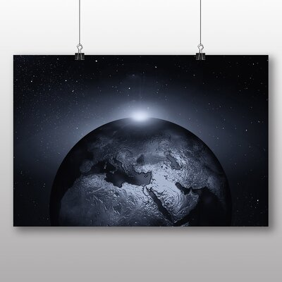 Big Box Art Earth From Space No.5 Graphic Art Wrapped on Canvas