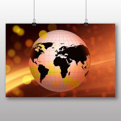 Big Box Art Earth Globe Abstract No.4 Graphic Art