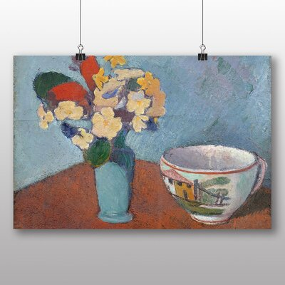 Big Box Art 'Vase with Flowers' by Emile Bernard Art Print