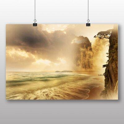 Big Box Art Coast Shore Cliffs Beach No.3 Photographic Print on Canvas
