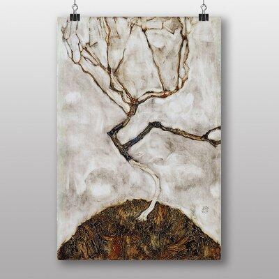 "Big Box Art ""Small Tree in Late Autumn"" by Egon Schiele Art Print"