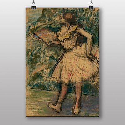 "Big Box Art ""Dancer with a Fan"" by Edgar Degas Art Print"