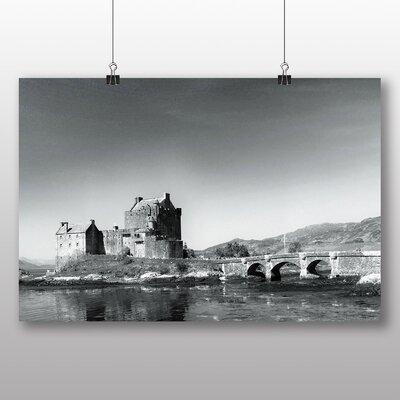 Big Box Art Eilean Dannan Castle Loch Ness Scotland Photographic Print Wrapped on Canvas