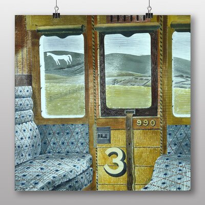 "Big Box Art ""Train Landscape"" by Eric Ravilious Art Print Wrapped on Canvas"