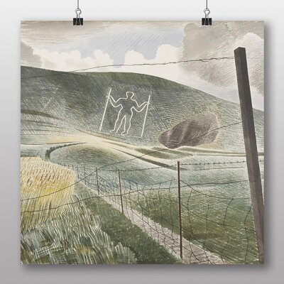 """Big Box Art """"The Wilmington Giant"""" by Eric Ravilious Art Print on Canvas"""