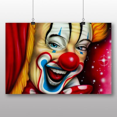 Big Box Art Clown Circus No.1 Graphic Art Wrapped on Canvas