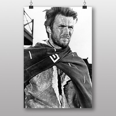Big Box Art Clint Eastwood No.2 Photographic Print Wrapped on Canvas