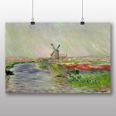 Big Box Art 'Field of Tulips, Holland' by Claude Monet Art Print