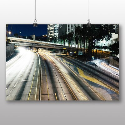Big Box Art Blurred Lights Road Photographic Print