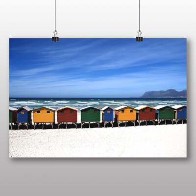 Big Box Art Colourful Beach Huts Photographic Print