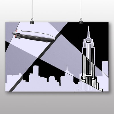Big Box Art Empire State Building New York City Graphic Art