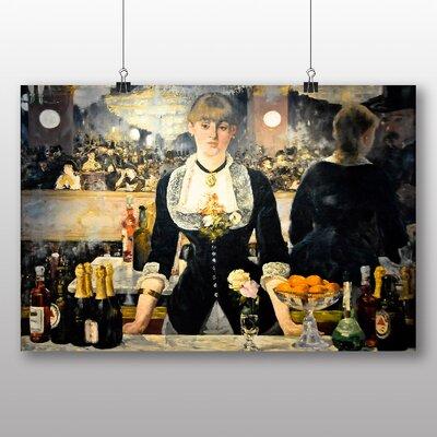 Big Box Art 'A Bar at the Folies Bergere' by Edouard Manet Art Print