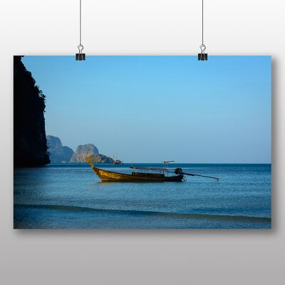 Big Box Art Boats in Thailand No.3 Photographic Print Wrapped on Canvas