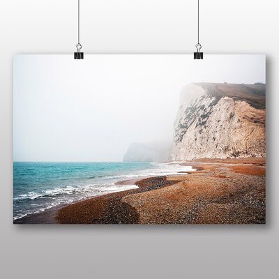 Big Box Art Coast Shore Cliffs Beach No.4 Photographic Print on Canvas