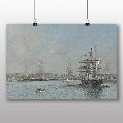 Big Box Art 'Le Havre, Une Corvette' by Eugene Boudin Art Print