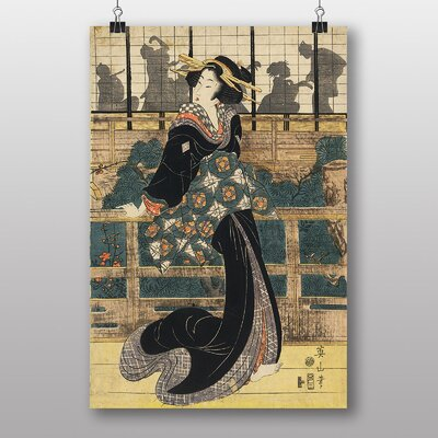 Big Box Art Eizan Kikukawa Japanese Oriental Art No.1 Art Print