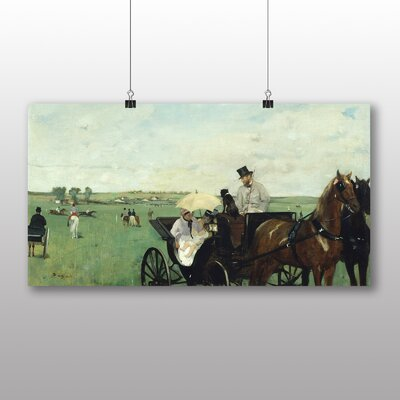 Big Box Art 'At the Races in the Countryside' by Edgar Degas Art Print