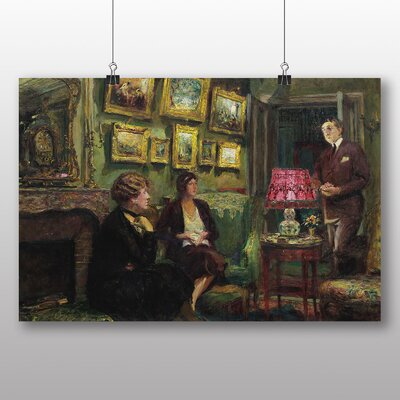 Big Box Art 'In the Lounge' by Edouard Vuillard Art Print