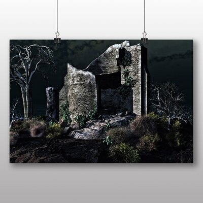 Big Box Art Castle Ruins Photographic Print Wrapped on Canvas
