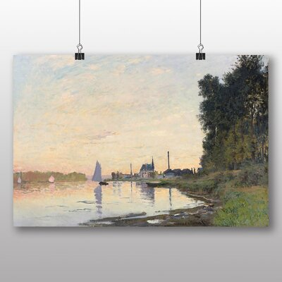 Big Box Art 'The Shore at Dusk' by Claude Monet Art Print