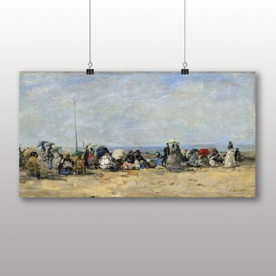 Big Box Art 'Beach of Trouville No.4' by Eugene Boudin Art Print