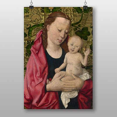 """Big Box Art """"Madonna with Child No.2"""" by Dieric Bouts Art Print"""