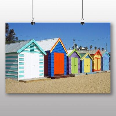 Big Box Art Colourful Beach Huts in Melbourne Australia No.1 Photographic Print on Canvas