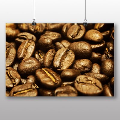 Big Box Art Coffee Beans No.6 Photographic Print Wrapped on Canvas