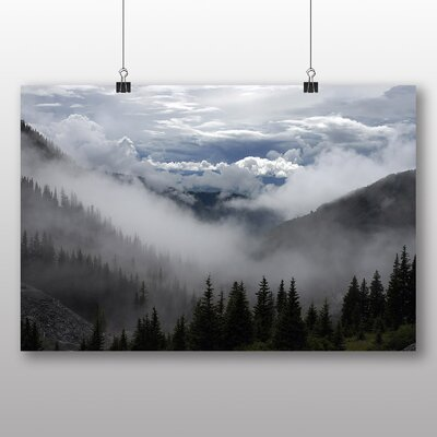 Big Box Art Clouds and Trees Photographic Print on Canvas