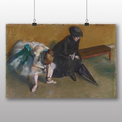 Big Box Art 'Waiting' by Edgar Degas Art Print
