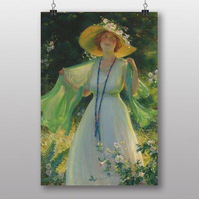 "Big Box Art ""Lady in a Summer Garden"" by Charles C. Curran Art Print"