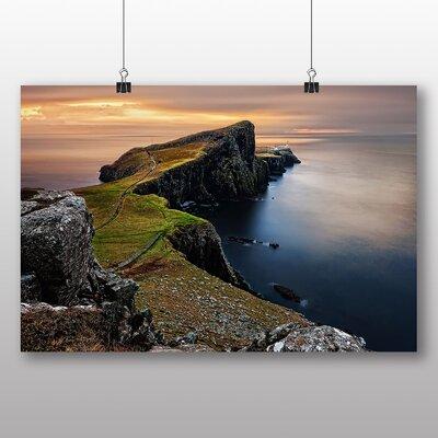 Big Box Art Coast Shore Cliffs Beach No.1 Photographic Print on Canvas