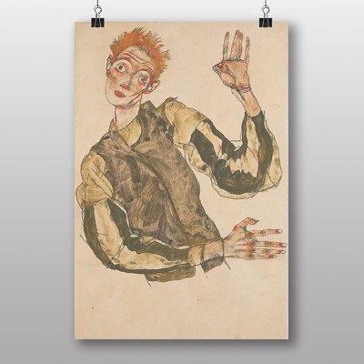 "Big Box Art ""Self Portrait No.8"" by Egon Schiele Art Print"