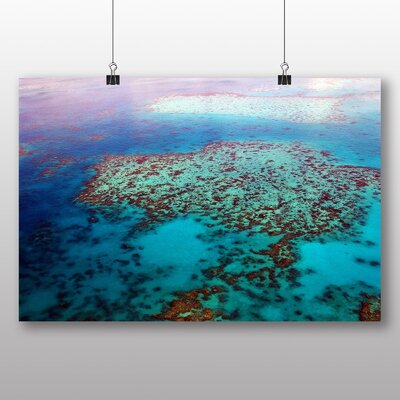 Big Box Art Coral Great Barrier Reef Graphic Art Wrapped on Canvas