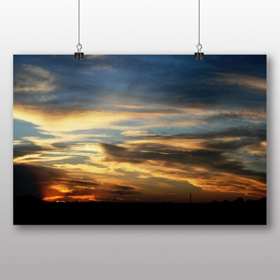 Big Box Art Evening Sunset No.7 Photographic Print Wrapped on Canvas