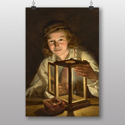 Big Box Art By the Light of the Lantern by Ferdinand Georg Waldmuller Art Print