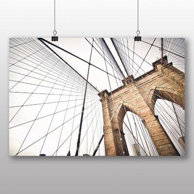Big Box Art Brooklyn Bridge New York USA No.1 Photographic Print Wrapped on Canvas