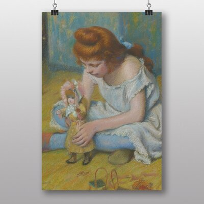"Big Box Art ""Playing with her Doll"" by Federico Zandomeneghi Art Print"