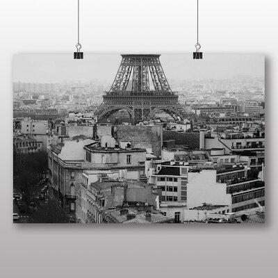 Big Box Art Eiffel Tower Paris France No.5 Photographic Print Wrapped on Canvas