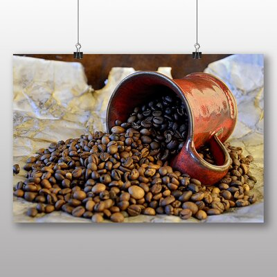 Big Box Art Coffee Beans No.5 Photographic Print Wrapped on Canvas